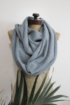 Gray tshirt scarf tshirt mens scarf unisex infinity scarf winter fall women accessories mens scarves gift ideas for him for her wooly tshirt