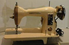 A fine vintage sewing machine made by Brother and restored by Stagecoach Road Vintage Sewing Machine.