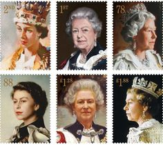 Daily Express-Portraits of Queen Elizabeth which will be issued as postage stamps to mark the 60th Anniversary of the Coronation