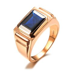 18K rose gold 4.8ct sapphire men ring for a gentleman (1000×1000)