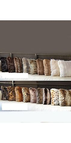 Need in faux fur!!! Love patterns&textures.