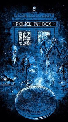The Silence, weeping angels and Daleks. The Tardis even looks scary like its at Trenzalore. And don't forget about John Smith, the man who forgot the Doctor existed. Just about sums up all of modern Doctor Who. Serie Doctor, The Doctor, Doctor Who Fan Art, Eleventh Doctor, Doctor Who Tardis, The Silence Doctor Who, Sherlock, Matt Smith, John Smith