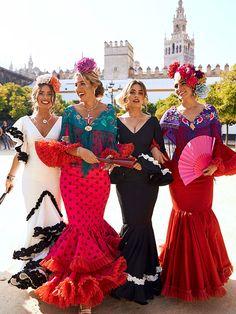 Spanish Dress Flamenco, Flamenco Party, Flamenco Dancers, Flamenco Dresses, Day Of Dead Costume, Spanish Fashion, Couture Fashion, Women's Fashion, Diy Clothes
