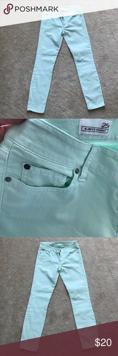Gap Always Skinny Mint Jeans Gap Always Skinny Mint Jeans! Great condition worn once! No flaws! Size 25r GAP Pants Skinny