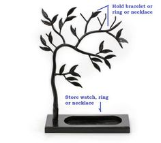Sculpted Jewelry Tree - Metal Necklace Holder / Jewelry Tree / Jewelry Oraganizer / Jewelry Stand / Jewelry Display