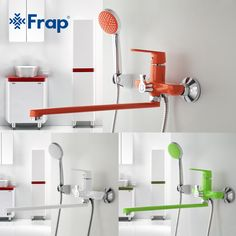 "HOT PRICES FROM ALI - Buy ""Frap 1 set Outlet pipe Bath shower faucet Brass body surface Spray painting Green shower head from category ""Home Improvement"" for only USD. Hand Held Shower, Shower Set, Bath Shower, Bathroom Shower Faucets, Bathroom Fixtures, Farmhouse Faucet, Copper Faucet, Faucet Parts, Shower Installation"