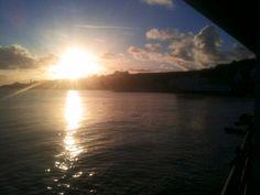 Sunrise over Swanage bay