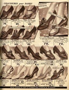 Vintage Fur, Vintage Shoes, Vintage Ladies, Retro Vintage, Vintage Outfits, 1930s Fashion, Retro Fashion, Vintage Fashion, Zapatos