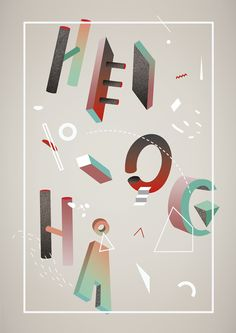 Typography  by Christina Magnussen, via Behance