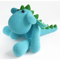 Amigurumi dragon pattern, crocheted with soft cotton and bamboo blend. This pattern has lots of photos to help you along and all the amigurumi specific techniques are explained. Crochet Dragon Pattern, Crochet Animal Patterns, Stuffed Animal Patterns, Crochet Animals, Stuffed Animals, Crochet Horse, Crochet Amigurumi, Amigurumi Patterns, Amigurumi Doll