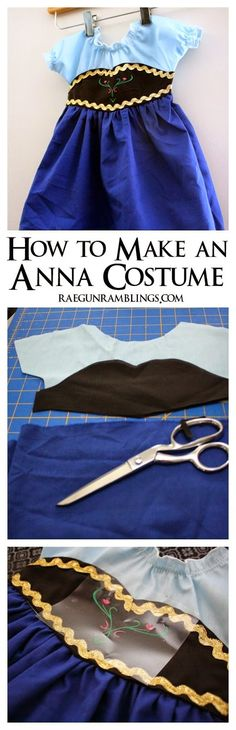 Sewing Ideas For Baby DIY Frozen Anna Costume Tutorial - Rae Gun Ramblings - Baby Frozen Anna Costume Tutorial. Step by step tutorial that can be used to make an Anna costume in an size. Easy Sewing Projects, Sewing Projects For Beginners, Sewing Hacks, Sewing Tutorials, Sewing Ideas, Diy Projects, Dress Tutorials, Love Sewing, Sewing For Kids