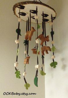 BUCKS, TRACKS & RUBS™ Hardwood Baby Mobile, Nursery Decor, Deer Hunting Nursery by OCKBaby on Etsy https://www.etsy.com/listing/220872940/bucks-tracks-rubs-hardwood-baby-mobile