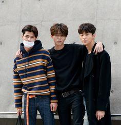 Street style: Bang Tae Eun, Joo Woo Jae, Byun Woo Seok at Seoul Fashion Week Spring 2016 shot by Lee Young Mo