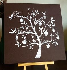 Birds and flowers paper cut tree  cut from a page by DinkyThings, £35.00