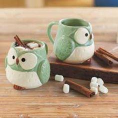 Owl Mugs (set of 2)