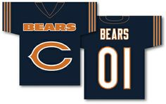 "These premium two-sided 34"" x 30"" Jersey Banners are lined for clear visibility when viewed from either side. Made from 100% polyester, they have a 3 inch pole sleeve to display the banner outdoors. The banner designs are inspired by the Team's uniform.   Chicago Bears"