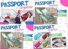 Stylish and Colorful Multifunctional Passport Handy Organizer Perfect to Keep Your Stuff - Available in 5 Colors. Now Only Rp 79.000
