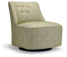 Lana Buttoned Swivel Chair, Leaf Green