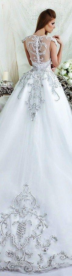 61258d245ad860 Dar Sara Bridal 2016 wedding dress stunning illusion back beaded  embroidered ball gown