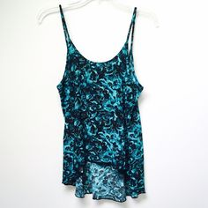 Winter Kate Printed Silk Low Back Tank Top NWOT Brand new top by Winter Kate, in excellent condition. Material is 100% Silk. Features a low back and high low hemline. Winter Kate Tops Tank Tops