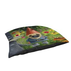 Thumbprintz Pug Gnome Rectangle Pet Bed