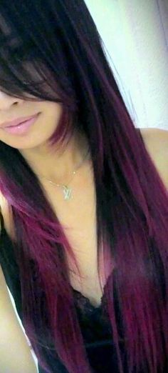Black to magenta ombre- maybe when my hair gets longer, only with brown instead of black