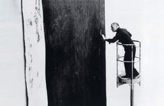 "Richard Serra     -'I was in analysis and I told my analyst I wanted to be the best sculptor in the world and he said: ""Richard, calm down."""