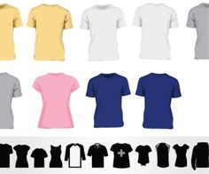 100 T-shirt Templates! Downloadable t-shirt mockups, t-shirt template vector files and PSD files! Enjoy! #tshirt #template #mockup