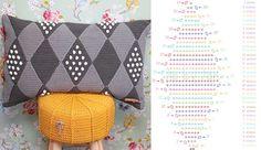 Wieber kussen met stippen haken Jip by Jan  Crochet cushion Crochet pattern