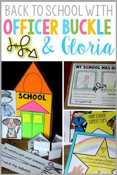 Make learning school safety and rules FUN and engaging with these Officer Buckle and Gloria extension activities. Includes a paper bag school house craft!