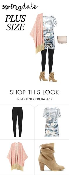 """""""#springdate plus size"""" by thestylenerd ❤ liked on Polyvore featuring Studio, Open End, Melissa McCarthy Seven7, Sole Society, Givenchy, springdate and plus size clothing"""