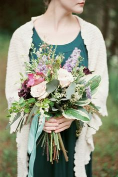 Nicole Colwell Photography - Virginia Photography - Winter bridemaids bouquet