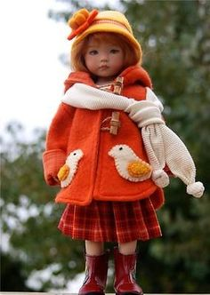 """~Autumnal Hues~for 13"""" Effner Little Darling by Sharon"""