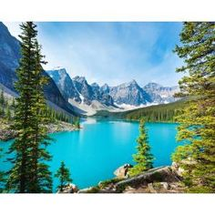 Lake Moraine Wall Mural-WR50524 - The Home Depot