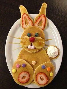 Hase aus Pfannkuchen