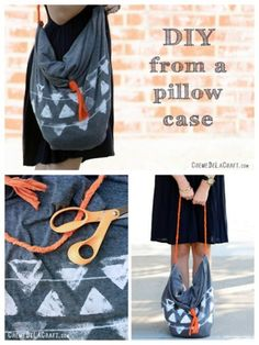 pillow case no sew tote