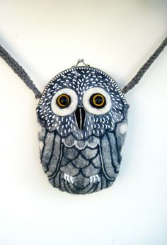 OWL wet felted purse hand made one of a kind gift by tatianaflor, $99.00