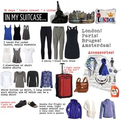 """1 Carry On 12 Days in Europe July 2013"" by heidi-barry-rodriguez on Polyvore"