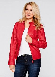 ... Red Leather, Leather Jacket, Jackets, Fashion, Down Vest, Mantle, Womens Fashion, Studded Leather Jacket, Down Jackets