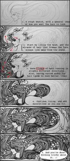 Hair Tutorial by *koyamori on deviantART
