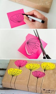 Hand-made wrapping paper.... we love it!!! What a fantastic idea