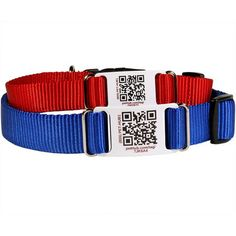 Nylon QR ScruffTag Dog Collar - Comes with FREE Profile Page & Lifetime Membership to PetHub. $29  at www.dogids.com