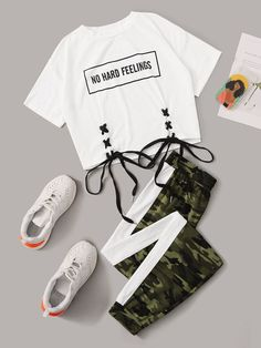 Cute Lazy Outfits, Teenage Girl Outfits, Girls Fashion Clothes, Teen Fashion Outfits, Mode Outfits, Retro Outfits, Outfits For Teens, Stylish Outfits, Swag Outfits
