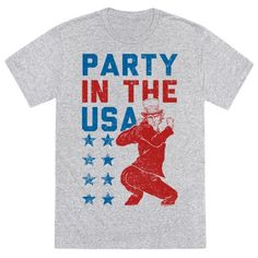 Party in the USA with Uncle Sam! Get your party on for liberty and peace with this Miley Cyrus and Uncle Sam combination. Good for any party or Holiday being celebrated in the USA. And a Jay-Z song was on.