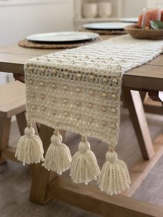 Items similar to Table Runner,Crotchet Runner, Farmhouse Table, Rustic Table, Farmhouse Table Runner on Etsy – Crochet Farmhouse Table Runners, Rustic Table, Diy Table, Wood Tables, Crotchet, Home Furnishings, Home Furniture, Furniture Design, Table Decorations