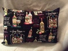 Decorative Pillow in a Wine Theme Fabric