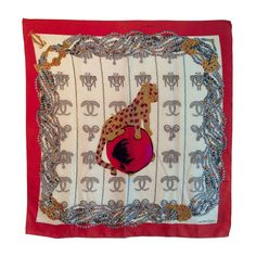 Cartier scarf Must   From a collection of rare vintage scarves at https://www.1stdibs.com/fashion/accessories/scarves/