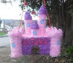 Como hacer piñata de castillo de princesas - Imagui