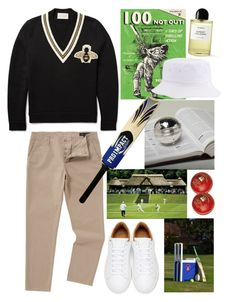 """""""Menswear cricket season"""" by thestyleartisan ❤ liked on Polyvore featuring Rocket68, Label Lab, Pippa, Gucci, Marc Jacobs, Byredo, men's fashion, menswear, cricket and lords"""