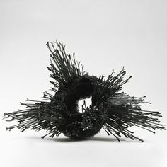 """Junko Mori: Propagation Project; Coppiced Wood, Sprout - 2013  Forged mild steel, wax-coated  Height 53cm (20 7/8"""") Width 68cm (26 3/4"""") Depth 68cm (26 3/4"""")"""